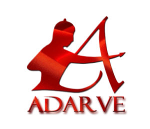 Logotipo de Editorial Adarve completo. Flandes Editorial